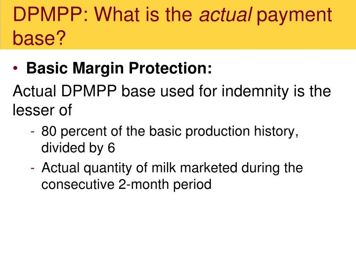 DPMPP: What is the