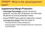 dpmpp what is the actual payment base1