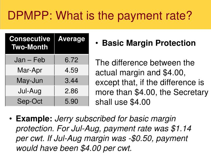 DPMPP: What is the payment rate?