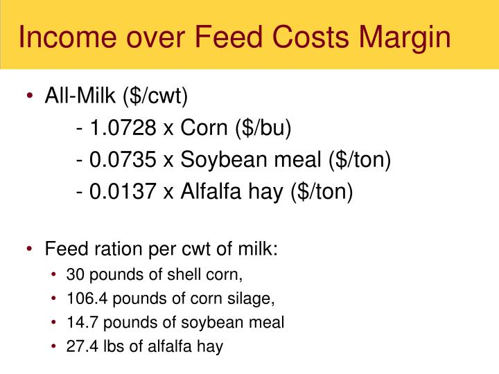 Income over Feed Costs Margin