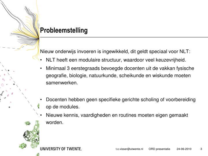 Probleemstelling