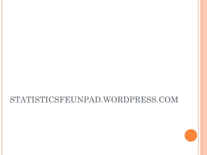 STATISTICSFEUNPAD.WORDPRESS.COM