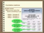 correlation matrices2