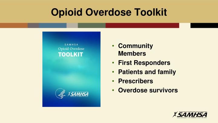 Opioid Overdose Toolkit