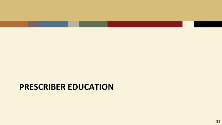 Prescriber education