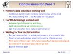 conclusions for case 1