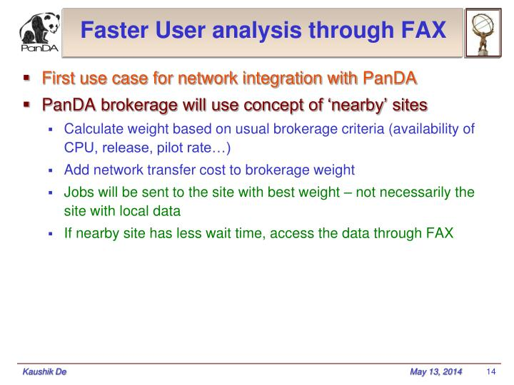 Faster User analysis through FAX