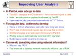 improving user analysis