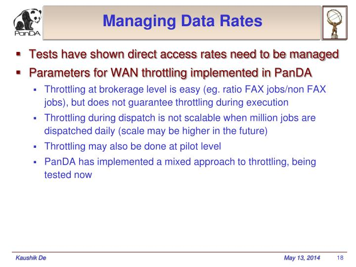 Managing Data Rates