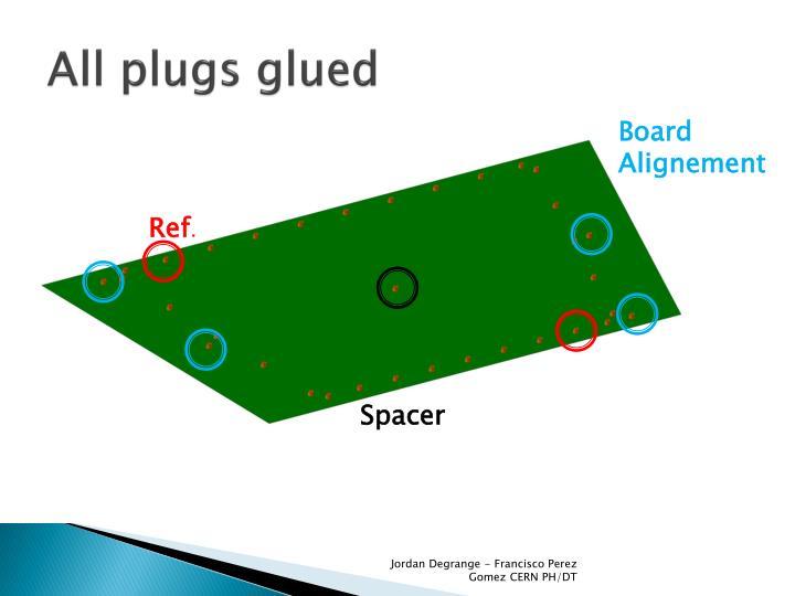 All plugs glued