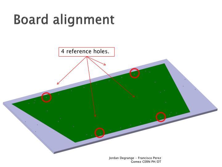 Board alignment