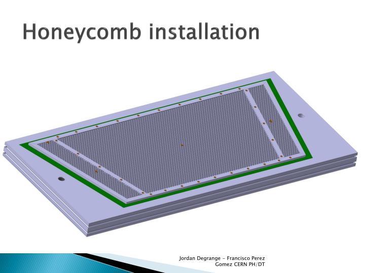 Honeycomb installation