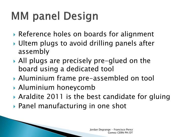 MM panel Design