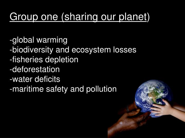 Group one (sharing our planet