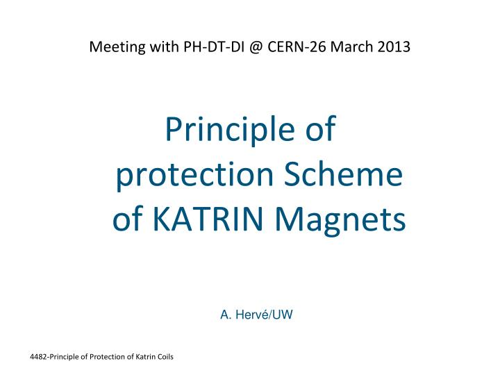 Meeting with ph dt di @ cern 26 march 2013