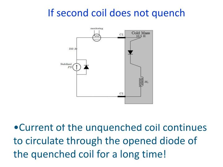 If second coil does not quench