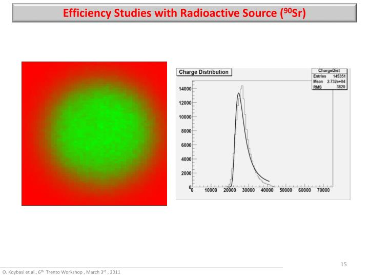 Efficiency Studies with Radioactive Source (