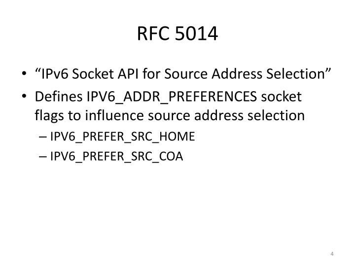 RFC 5014