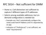 rfc 5014 not sufficient for dmm
