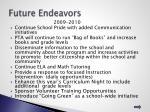 future endeavors
