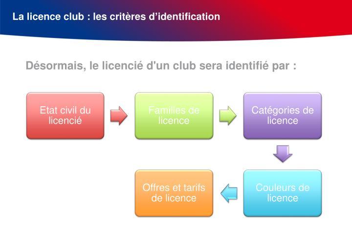 La licence club : les critères d'identification