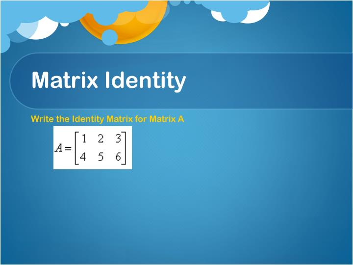 Matrix Identity