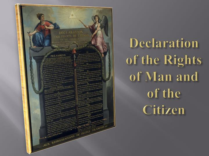 Declaration of the Rights of Man and of the Citizen