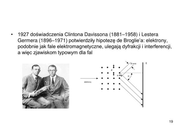 1927 doświadczenia Clintona