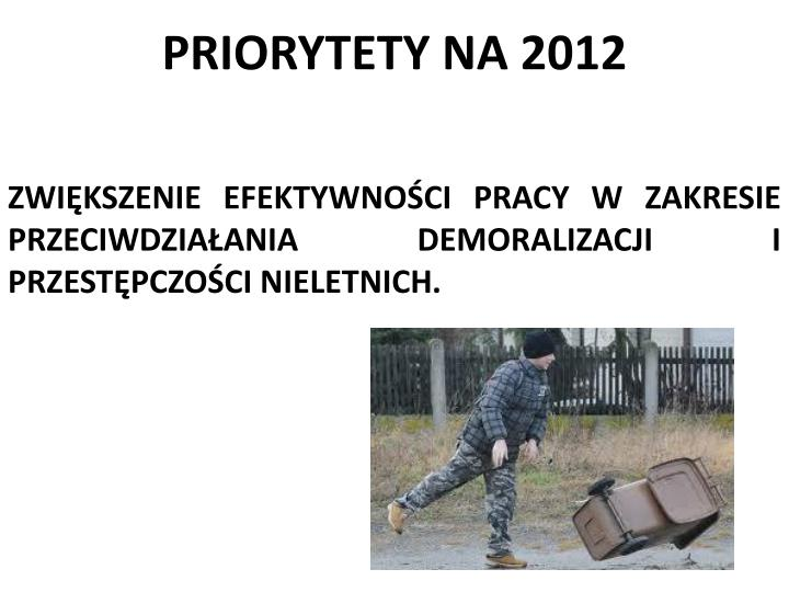 PRIORYTETY NA 2012