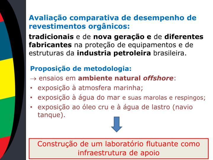 Avaliação comparativa de desempenho de revestimentos orgânicos: