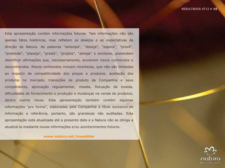 RESULTADOS 4T13