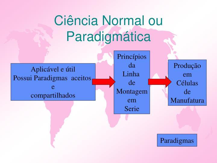 Ciência Normal ou Paradigmática