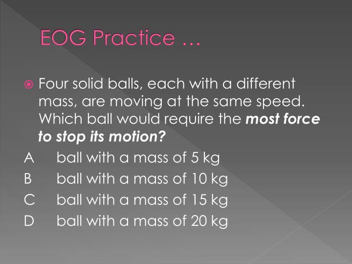 EOG Practice …