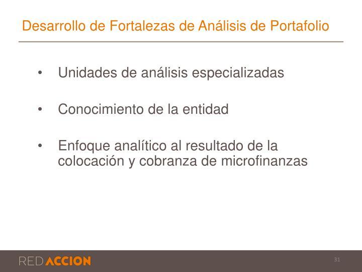 Desarrollo de Fortalezas de Análisis de Portafolio