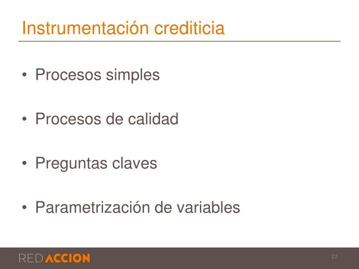 Instrumentación crediticia