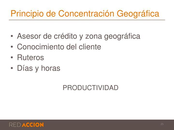 Principio de Concentración Geográfica