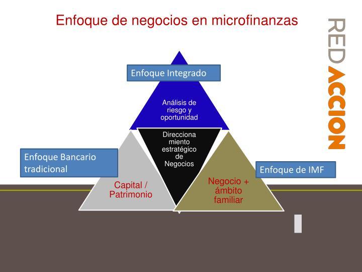 Enfoque de negocios en microfinanzas