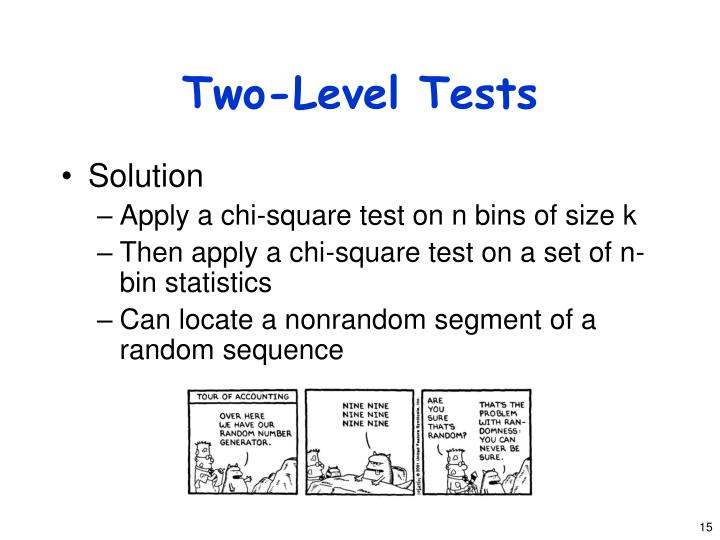Two-Level Tests