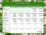 december 2011 west geauga high school and middle school menu