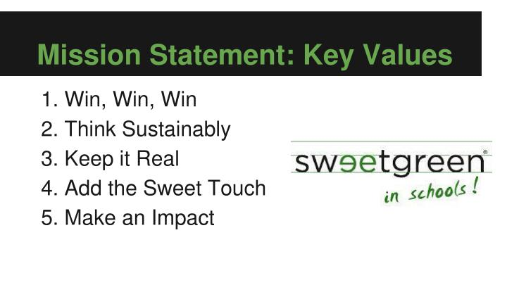 Mission Statement: Key Values