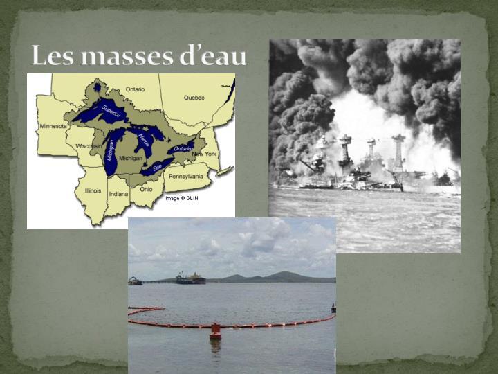 Les masses d'eau