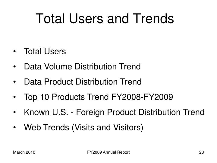 Total Users and Trends