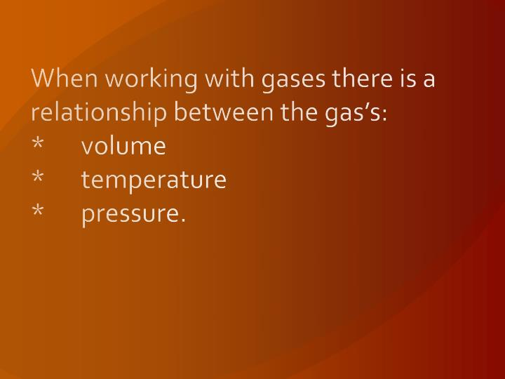 the relationship between volumes of gases