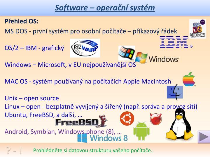 Software – operační systém