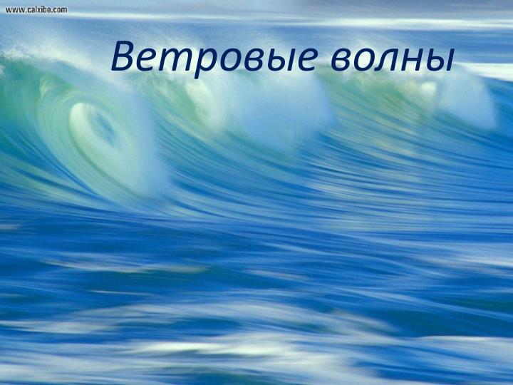 Ветровые волны