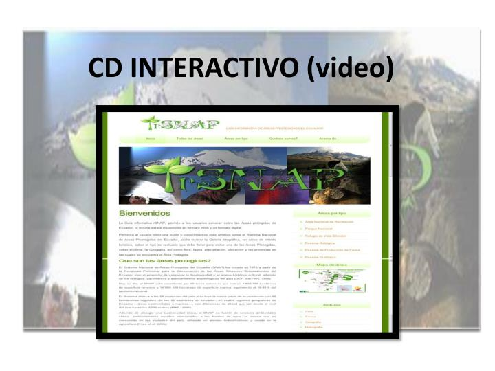 CD INTERACTIVO (video)