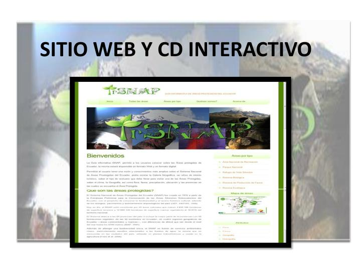 SITIO WEB Y CD INTERACTIVO