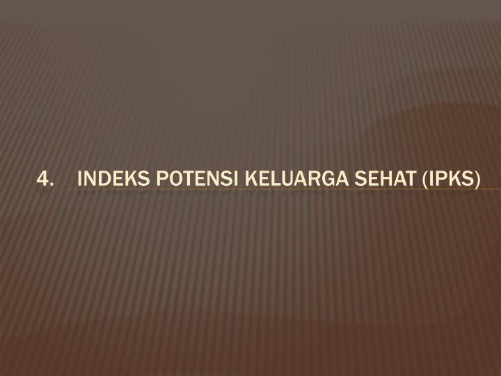 Indeks Potensi keluarga sehat (IPKS)