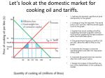 let s look at the domestic market for cooking oil and tariffs