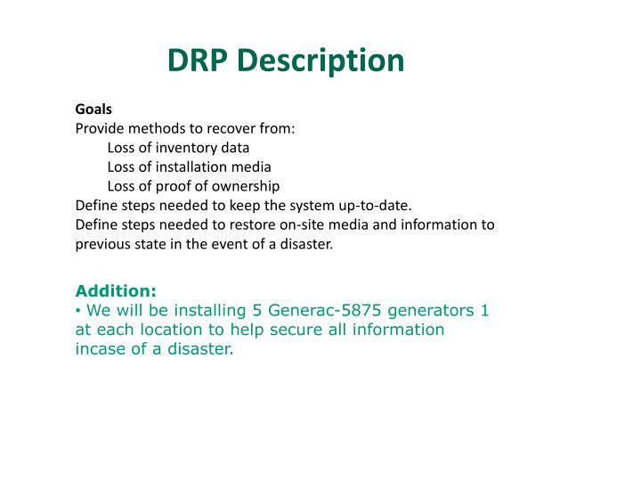 DRP Description